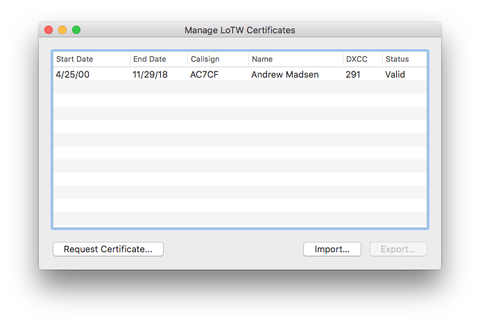 Aether Manage Certificates Non-Empty