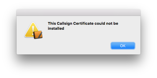 Aether Install Certificate Failed
